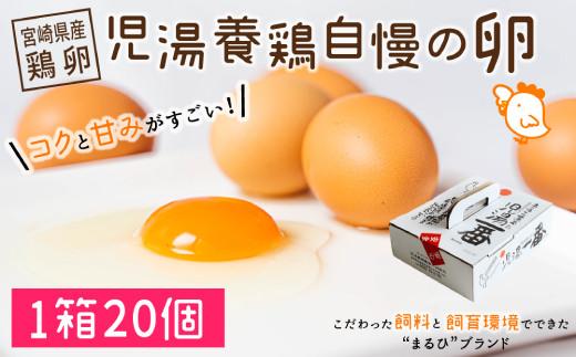 <児湯養鶏自慢の卵 >ネッカリッチ赤たまご「児湯一番」20個【A14】