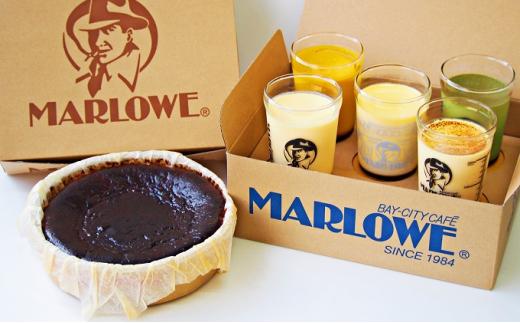 [№5875-0479]マーロウ【逗子限定】おすすめプリン5個とバスクチーズケーキ