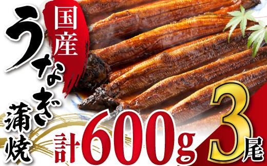 ≪国産≫うなぎ蒲焼3尾 SE1505-13