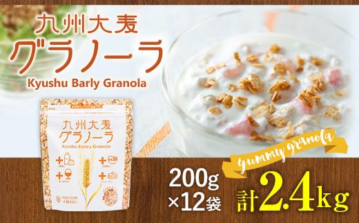 九州 大麦 グラノーラ 200g×12袋 香料 保存料の添加物は不使用