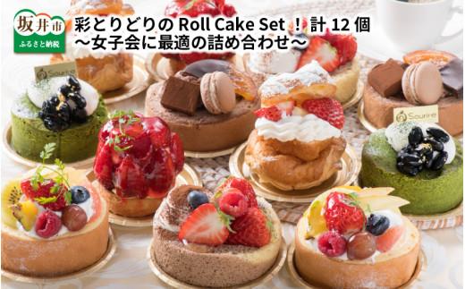 [C-5201] 彩とりどりのRoll Cake Set! 計12個 ~女子会に最適の詰め合わせ~