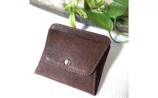 薄型ミニ財布 オイルヌメゴート革