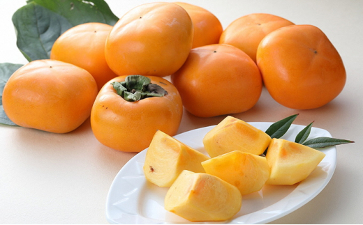 [№5224-0055]越王(こしわ)おけさ 柿 約7.5kg 32~40個