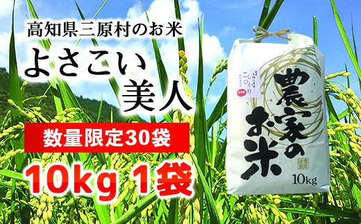 <限定30個>【高知県三原村】令和2年度新米 土佐三原米 よさ恋美人 10kg