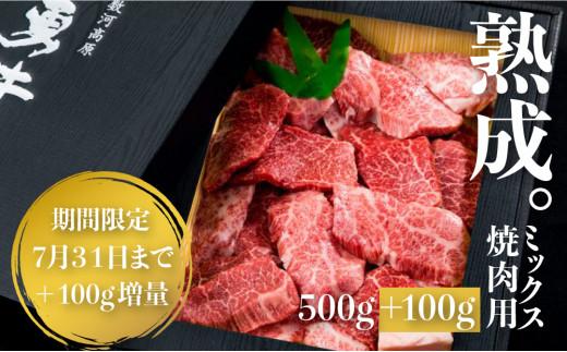 「山勇牛」焼肉用ミックス500g 7月末まで+100g増量キャンペーン中!牛肉 和牛 飛騨牛 肉[D0025sp]