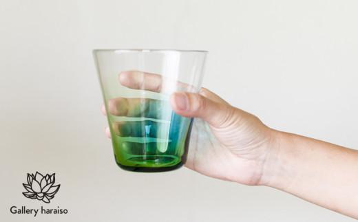 【琉球ガラス】うみいろロックグラス【青・緑】