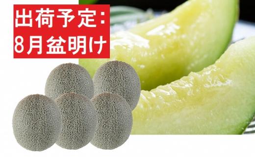 8月盆明け 青森の青肉メロン約8kg・4~6玉・秀~優[№5898-0396]