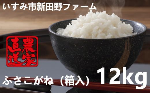 いすみ米ふさこがね12kg(箱入) A632