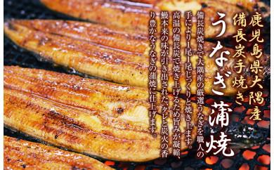 【鹿児島県大隅産】うなぎ備長炭手焼蒲焼4尾