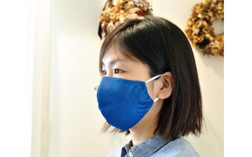 No.049 藍染立体マスク2枚セット / 工芸品 日本製生地 埼玉県 特産品