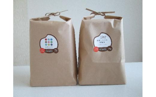 せいぶ米 お試し食べ比べセットB「銀河のしずく・ササニシキ」各3kg