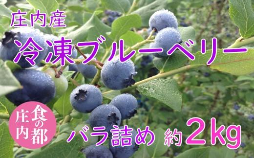 庄内産冷凍ブルーベリー(バラ詰め約2kg)