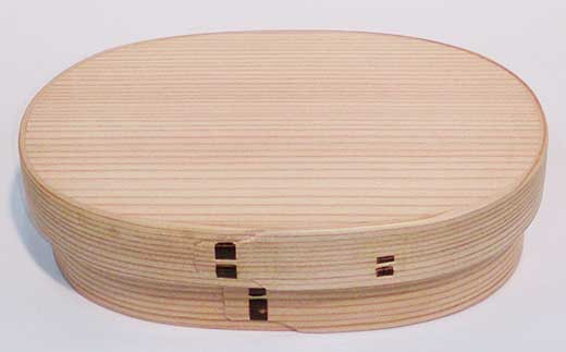 だえん弁当箱(中) 約18cm×11cm×4.5cm