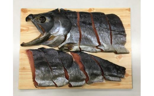 2020年12月より発送 予約受付中!新巻鮭 半身切身 (小豆嶋漁業)