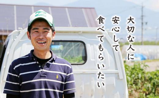 小布施の野菜農家の一人、工藤さんは、安心して食べてもらえるように、農薬・化学肥料を一切使わない有機野菜づくりに取り組んでいます。