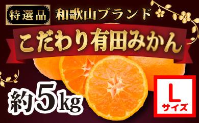 ■有田みかん5kg(Lサイズ)紀州グルメ市場