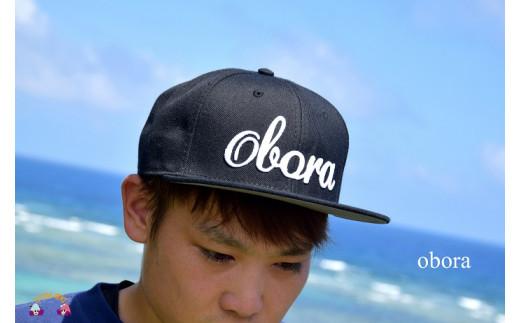 1023TOKUNOSHIMA発ブランド OBORAキャップ(ブラック)