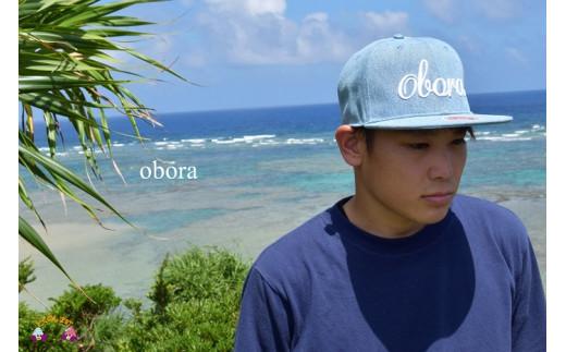 1026TOKUNOSHIMA発ブランド OBORAデニムキャップ(ライトブルー)