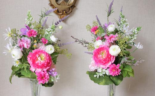 【空気を除菌する】水のいらない 夏の仏花 (左右2本)一対