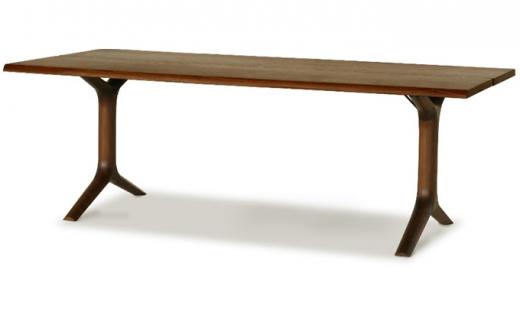 [№5809-4034]起立木工 KAMUI(カムイ)ダイニングテーブル ブラックウォールナット天然無垢 幅160cm