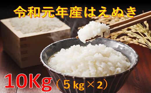 02A1050 はえぬき10kg(5kg×2袋・令和元年産)