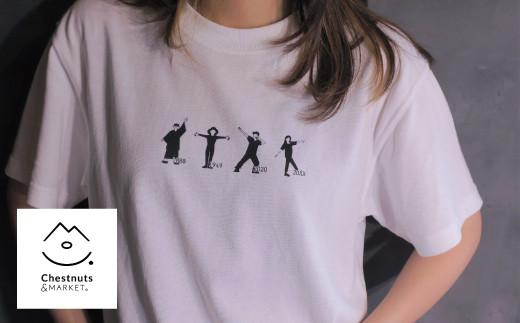 北海道栗山町「Chestnuts&Market」オリジナルTシャツ(ホワイト) 02_C046