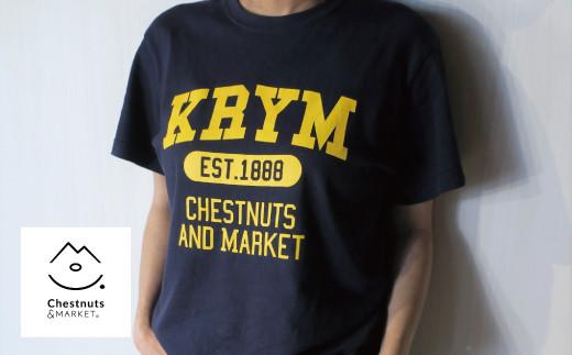 北海道栗山町「Chestnuts&Market」オリジナルTシャツ(ネイビー) 02_C047