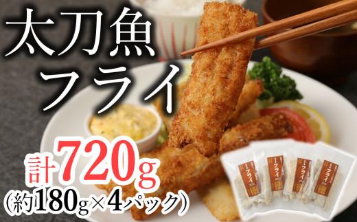 揚げるだけ!サクサクおいしい臼杵の地魚!「太刀魚フライ」計720g