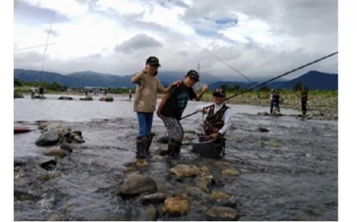 【2名様】普段着で、しな~っと体験⑤ 大野の鮎釣り体験[№5884-0383]