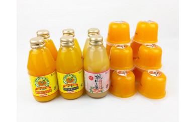 ■和歌山・有田産みかん、きよみ、もものフルーツジュース200ml×6本とゼリー12個セット