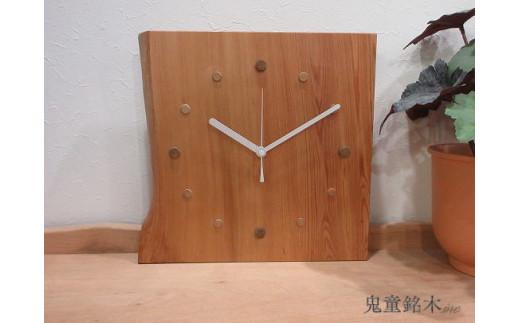 屋久杉一枚板時計(FT014)穏やかな心 鬼童銘木㈱