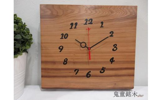 屋久杉一枚板時計(FT012)穏やかな心 鬼童銘木㈱