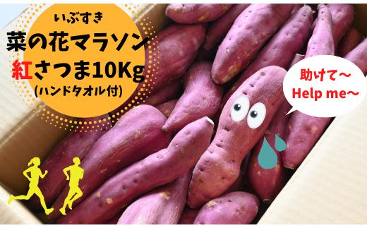 【新型コロナウイルス緊急支援】菜の花マラソン名物さつまいも10㎏(オリジナルハンドタオル付)