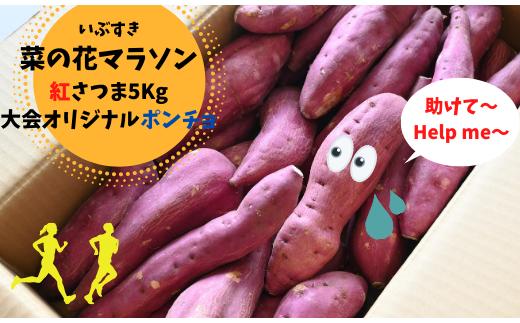 【新型コロナウイルス緊急支援】菜の花マラソン名物おもてなしのさつまいも5㎏(オリジナルポンチョ付)