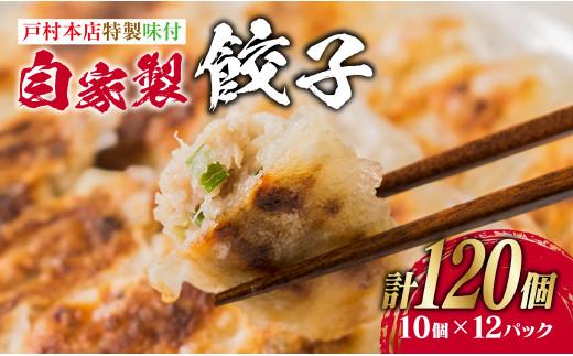 AA5-20 <戸村本店特製味付>自家製餃子計120個(10個×12パック)