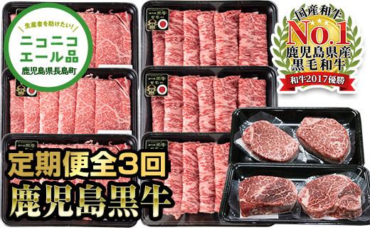 生産者支援 鹿児島黒牛定期便(全3回)