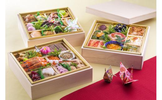 【生おせちを大晦日にお届け】中国料理三段重 特選生おせち『福寿』