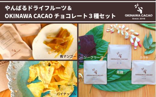 【OKINAWA CACAO】やんばるのドライフルーツとチョコレート3種のセット