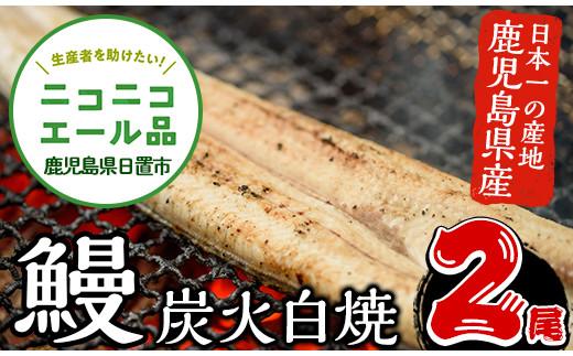 鹿児島県産!うなぎの炭火白焼(2尾)【家むら】