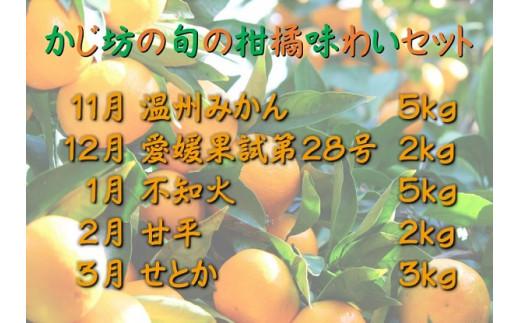 H45-23.【定期便(11月~3月)】かじ坊の柑橘味わいセット