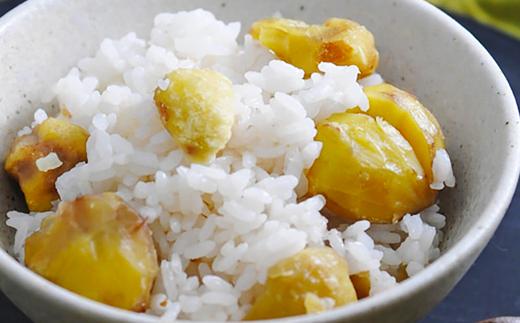 【栗ご飯】秋の定番人気メニュー栗ご飯、ほくほくの栗と新米のうまみがマッチしてご飯が進みます!