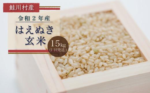 鮭川村 令和2年産はえぬき<玄米> 15㎏
