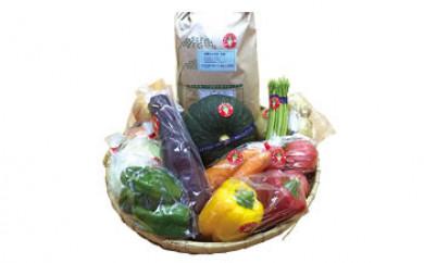 【ポイント交換専用】薬味野菜の里小国ふるさと野菜の詰め合わせ(お米5kg)
