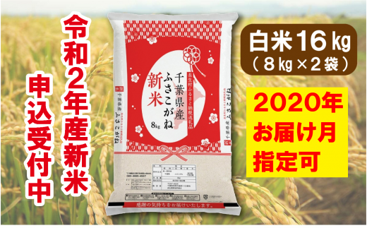 E01-000 長生産ふさこがね(白米16kg)令和2年産新米 ※2020年配送分
