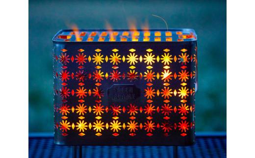 No.231 焚き火台 Bonfire Grill(焚き火台セット・テマリ柄) / アウトドア レジャー キャンプ 熊本県