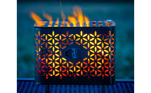 No.232 焚き火台 Bonfire Grill(焚き火台セット・タケカゴ柄) / アウトドア レジャー キャンプ 熊本県