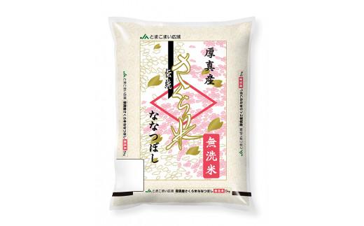 【無洗米】8年連続特A受賞 厚真産 さくら米 5㎏《先行予約》
