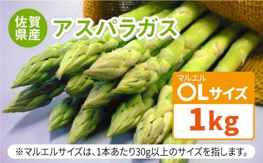【3月以降発送】アスパラガス1kg(〇Lサイズ)【佐賀県農業協同組合】 [FBE017]