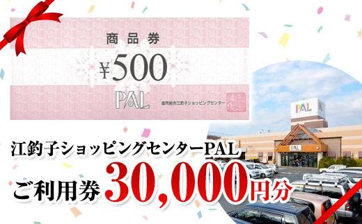 江釣子ショッピングセンター・パル (PAL) 利用券 3万円分