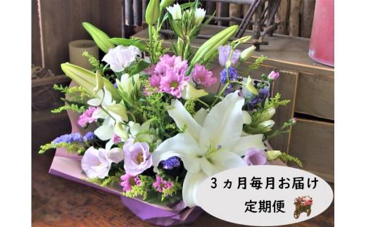 【定期便 / 3ヶ月】心安らぐお供え フラワーアレンジメント (中)